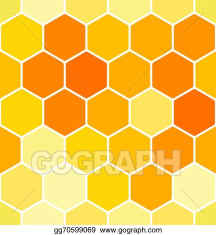 vector art seamless honeycomb pattern eps clipart gg70599069 rh gograph com bee honeycomb clipart honeycomb clipart black and white