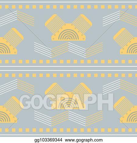 7c83ab89e49 Clip Art Vector - Seamless mechanical steampunk geometric pattern in ...