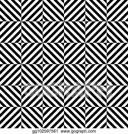 Vector Stock Seamless Op Art Optical Illusion Pattern Background Stock Clip Art Gg102597561 Gograph