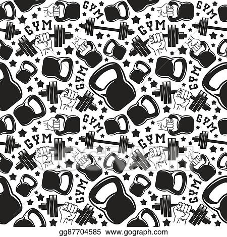 Seamless Pattern Gym Club