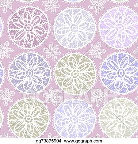 Seamless Pattern Vintage Lace Design Pastel Purple Violet Color