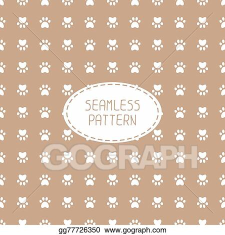 5c77a49c44bd Seamless pattern with animal footprints, cat, dog. Wrapping paper. Paper  for scrapbook. Tiling. Vector illustration traces with paw prints.  Background.