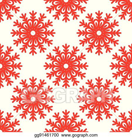 Vector Art - Seamless pattern with snowflakes  EPS clipart