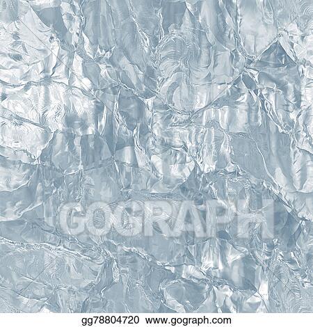 Stock Illustration Seamless tileable ice texture frozen water