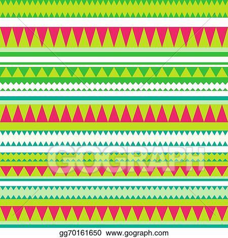 Vector Illustration Seamless Vector Tribal Texture Tribal