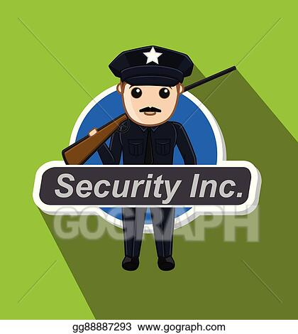 Clip art vector security guard with rifle stock eps gg88887293 security guard with rifle publicscrutiny Choice Image
