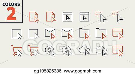 Vector Art - Selection & cursors ui pixel perfect well