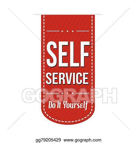 Clip art vector self service banner design stock eps gg79205429 self service banner design solutioingenieria Image collections