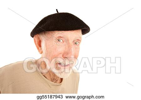 a06dbabe7bbcf Pictures - Senior man in black beret. Stock Photo gg55187943 - GoGraph