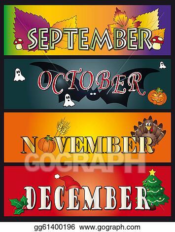 Stock Illustration - September october november december