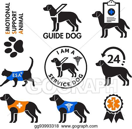 Image of: Meme Service Dogs And Emotional Support Animals Emblems The Cartoonist Group Clip Art Vector Service Dogs And Emotional Support Animals Emblems