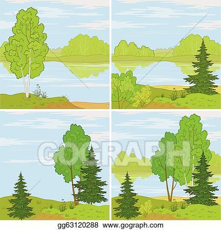 Spring Landscape Stock Vector Illustration And Royalty Free Spring Landscape  Clipart