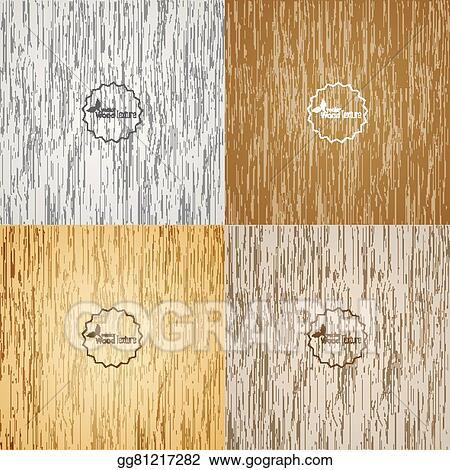 Clip Art Vector Set Light Wood Background Stock EPS Gg81217282