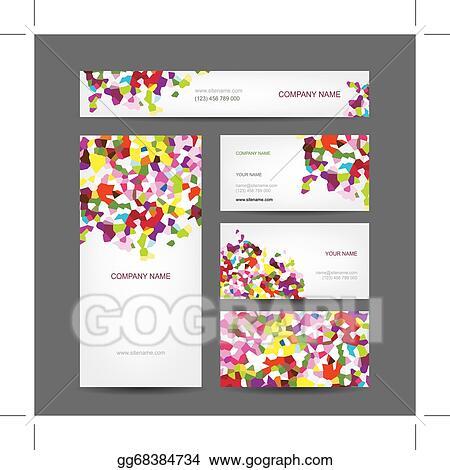Vector stock set of abstract creative business cards design set of abstract creative business cards design colourmoves