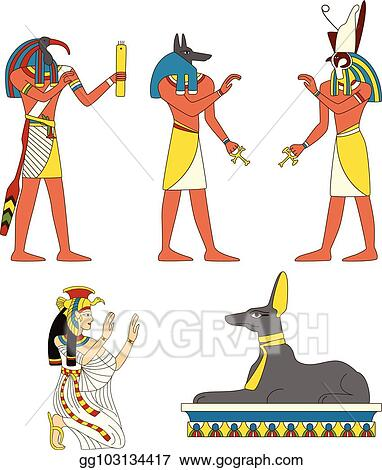 Vector Clipart Set Of Ancient Egyptian Gods Images Vector