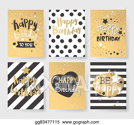 Vector clipart set of beautiful birthday invitation cards set of beautiful birthday invitation cards decorated with colorful balloons cakes and cartoon elephant filmwisefo