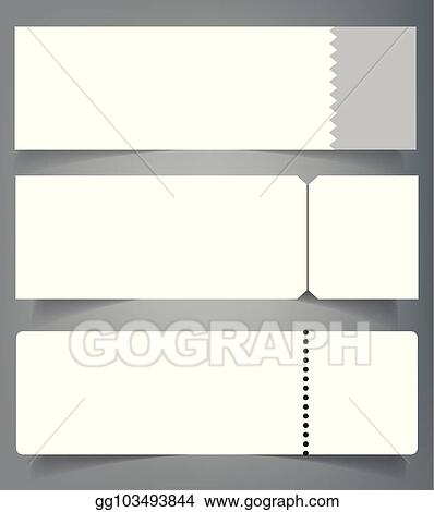 vector illustration set of blank event concert ticket mockup