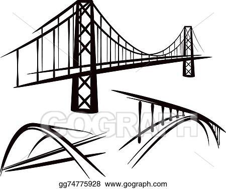 vector stock set of bridges clipart illustration gg74775928 gograph rh gograph com bridge clipart png bridge clipart images