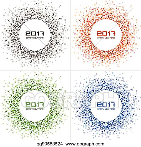 3aba83ac6261 Set of Bright Colorful New Year 2017 circle frames on white Backgrounds.  Transparent confetti circles new year frames. Collection of Light shining  circle ...
