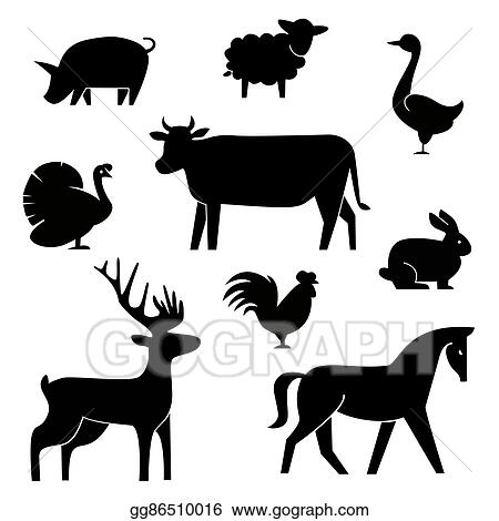 vector illustration set of butchery logotype templates cartoon