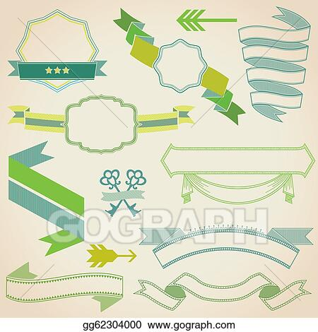 Vector Art Set Of Colorful Ribbons For Your Text Design
