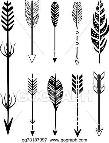 Hipster Arrows Clip Art