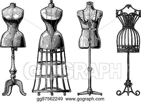 clip art vector set of dress form stock eps gg97562249 gograph rh gograph com dress form silhouette clip art Dress Form Illustration