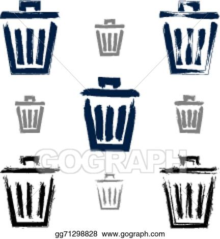 Trash Can Icons Set Csp44689524