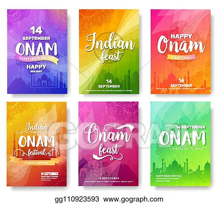 Vector Stock Set Of Indian Independence Day Festival