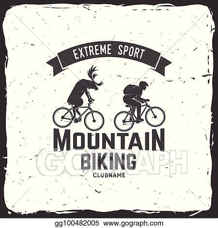 Set Of Mountain Biking Clubs Vector Illustration
