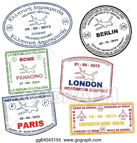 Set Of Passport Stamps