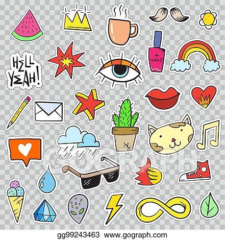 Diamond cute. Eps illustration set of
