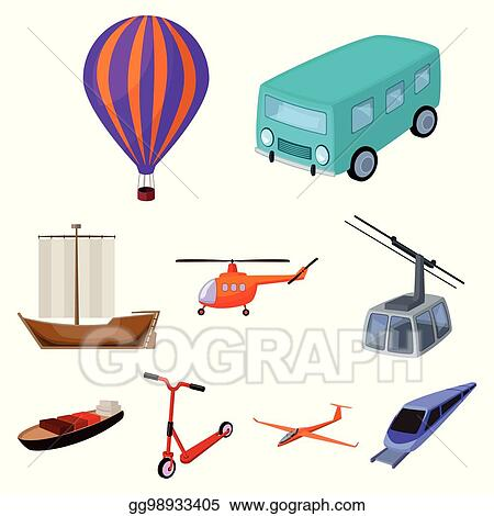 Vector Clipart Set Of Pictures About Types Of Transport