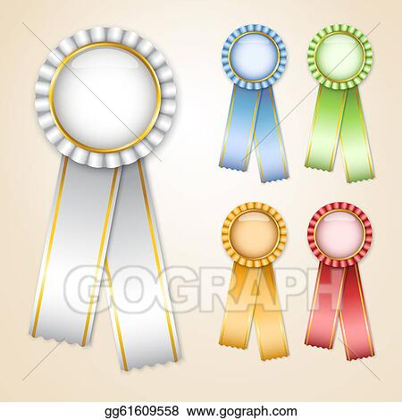 stock illustration set of prize ribbons clipart illustrations