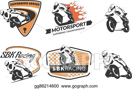 Eps Vector Set Of Racing Motorcycle Logo Badges And Icons
