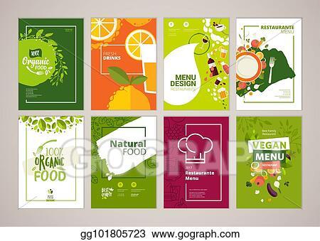 Clip Art Vector Set Of Restaurant Menu Brochure Flyer Design