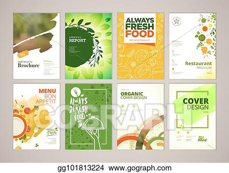 clip art vector set of restaurant menu brochure flyer design