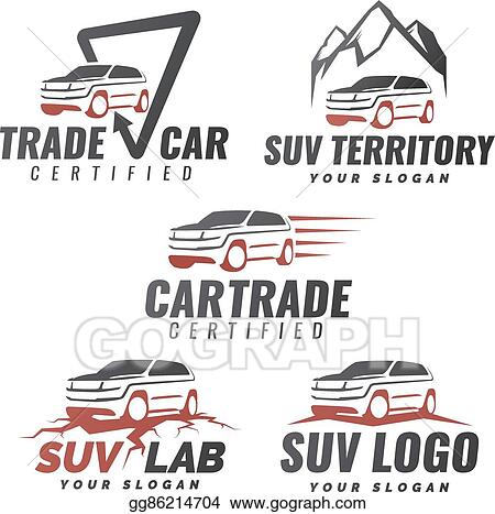 Set Of Suv Car Service Logo Templates Automotive Repair And Theme Concept Al Template Design Vector Isolated Modern Front