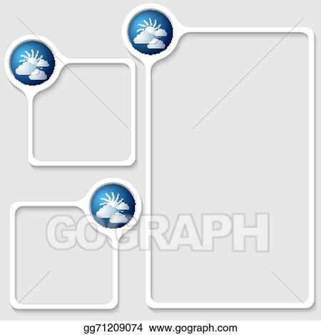 Vector Art - Set of three frames for entering text with transparent ...