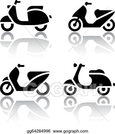 vector art set of transport icons scooter and moped eps clipart gg64284996 gograph gograph