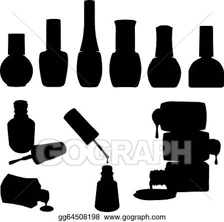 Clip Art Vector Set Of Vector Nail Polish Bottles Stock Eps