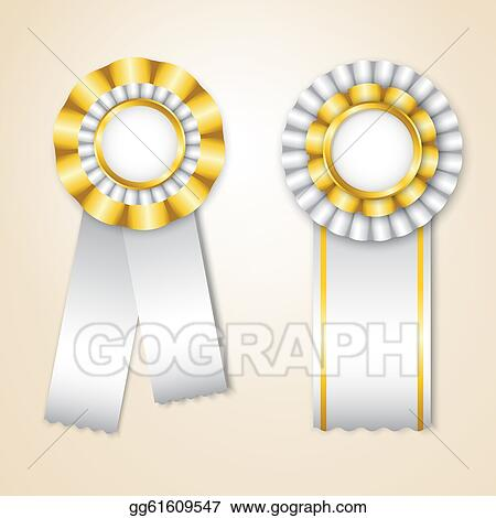 drawing set of vector prize ribbons clipart drawing gg61609547