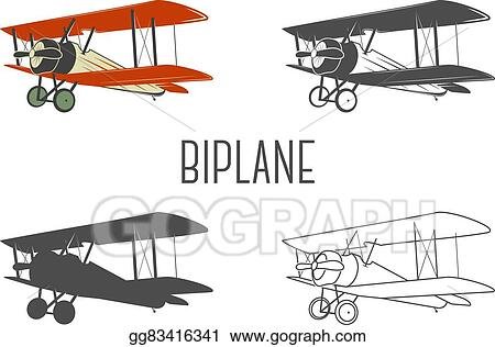 Eps Vector Set Of Vintage Aircraft Design Elements Retro