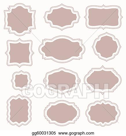 Vector Art Set Of Vintage Frames Clipart Drawing Gg60031305