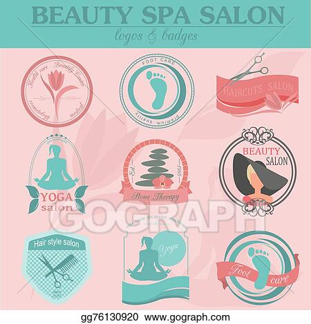 Clip Art Vector Set Of Vintage Hairstyle Logo Stock Eps