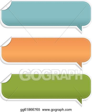 vector stock set speech bubble frames stock clip art gg61866765