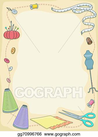 clip art vector sewing craft background stock eps gg70996766 gograph https www gograph com clipart license summary gg70996766