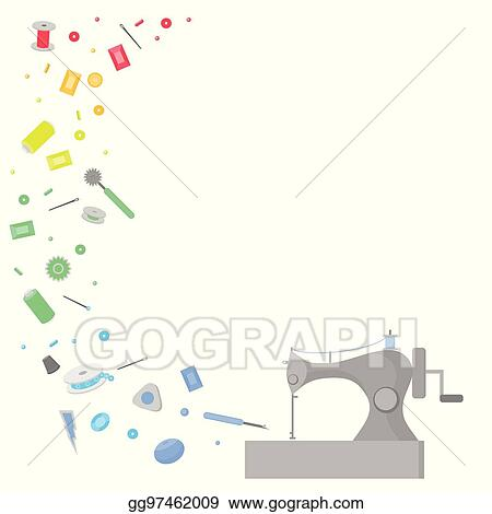 Vector Stock Sewing Workshop Equipment Flat Tailor Shop Design Elements Tailoring Industry Dressmaking Tools Icons Fashion Designer Sew Items Clipart Illustration Gg97462009 Gograph