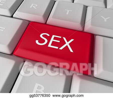 Drawing Sex Key On Computer Keyboard Clipart Drawing Gg53776350 Gograph