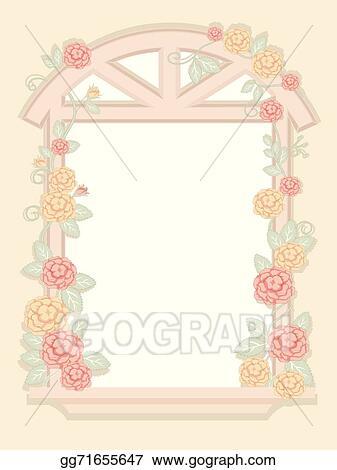 Vector Stock - Shabby chic window frame. Clipart Illustration ...